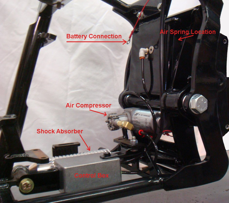 Indian Motorcycle air suspension